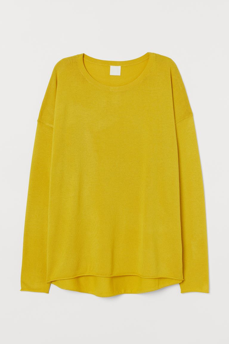 Fine Knit Sweater - Yellow - Ladies | H&M AU