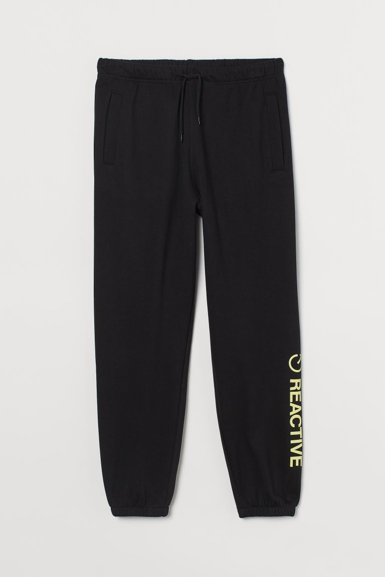 Joggers - Negro/Reactive - Men | H&M MX