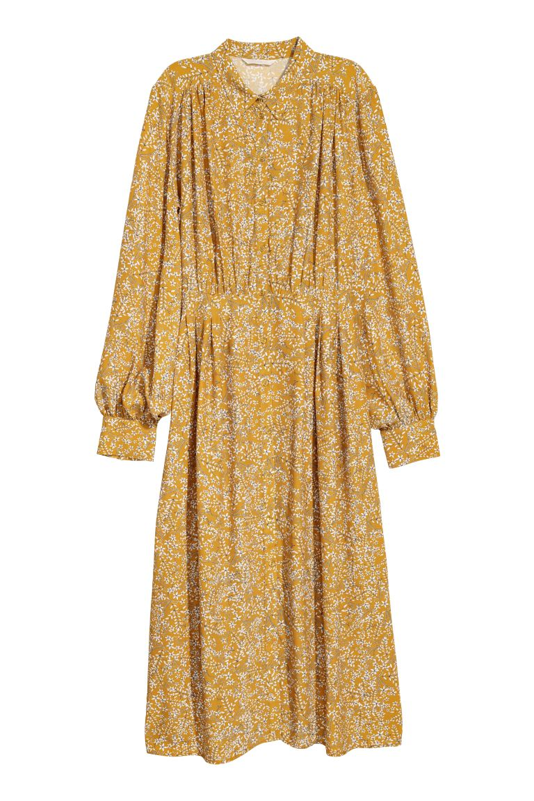 Dress - Yellow/Patterned - Ladies | H&M GB
