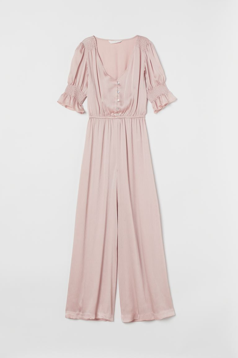 Satin jumpsuit - Powder pink - Ladies | H&M GB