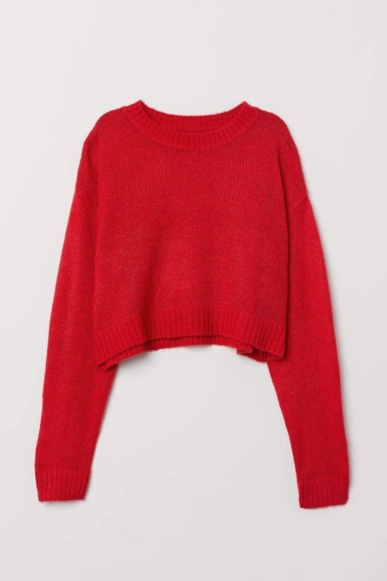 Knit Sweater - Red - Ladies | H&M CA