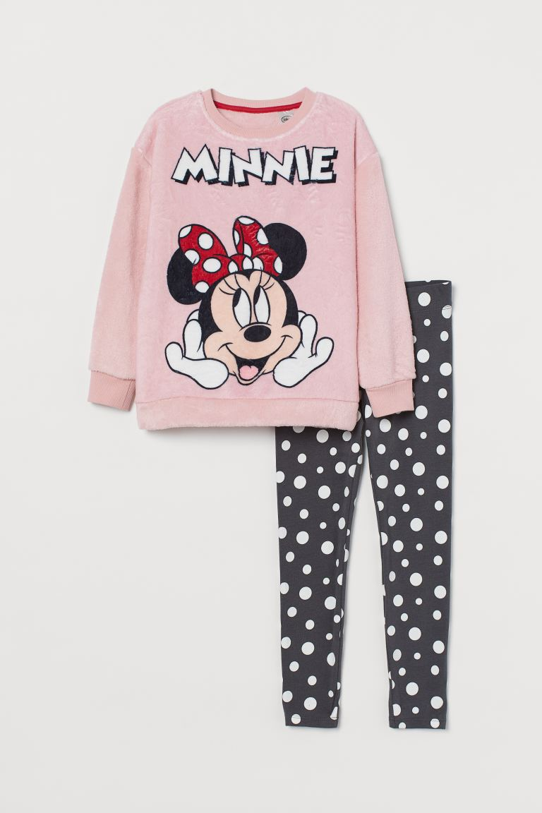 Printed pyjamas - Light pink/Minnie Mouse - Kids | H&M