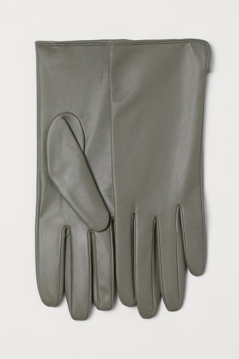 Leather Gloves - Gray - Ladies | H&M CA