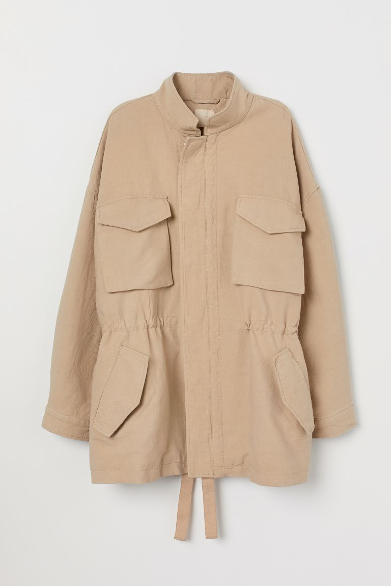 Oversized utility jacket - Beige - Ladies | H&M IE