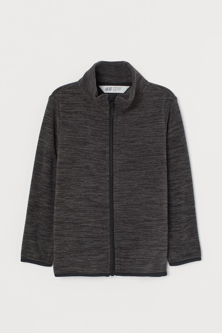 Fleece jacket - Dark grey marl - Kids | H&M GB