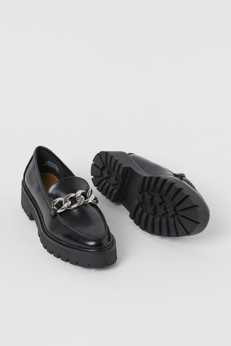 Chain-detail loafers - Black - Ladies | H&M GB 2