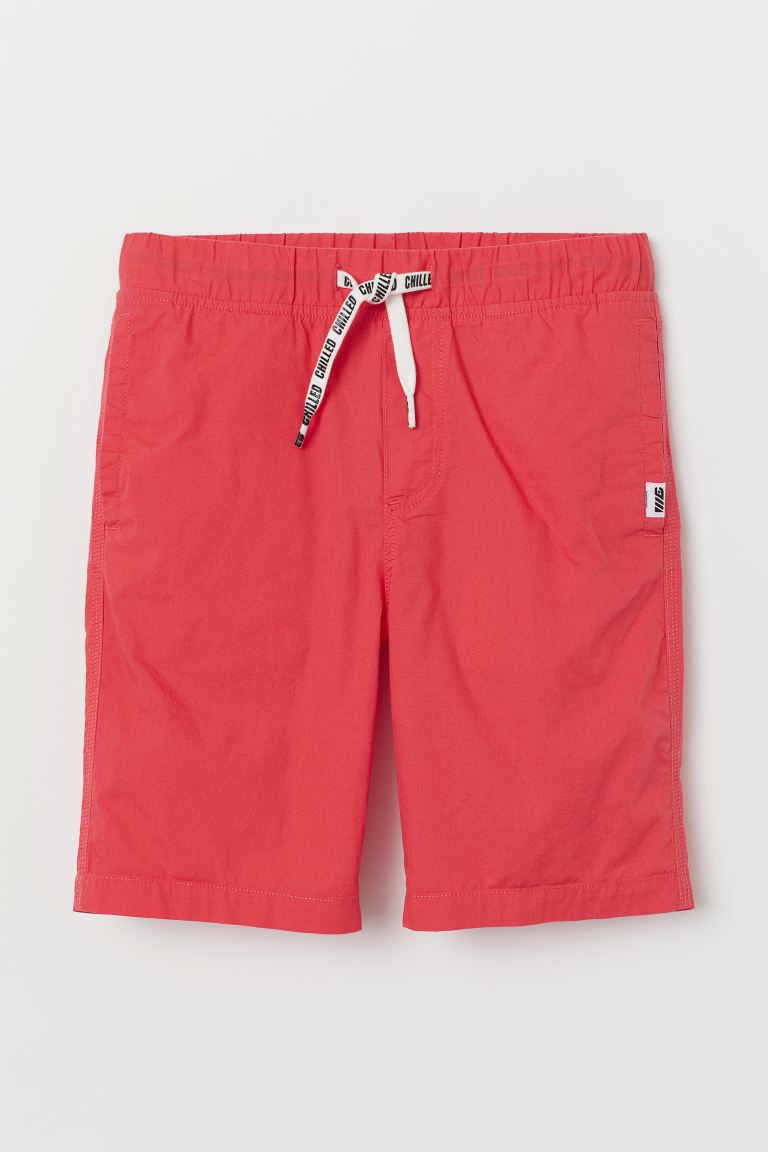 Cotton Shorts - Coral red - Kids | H&M CA