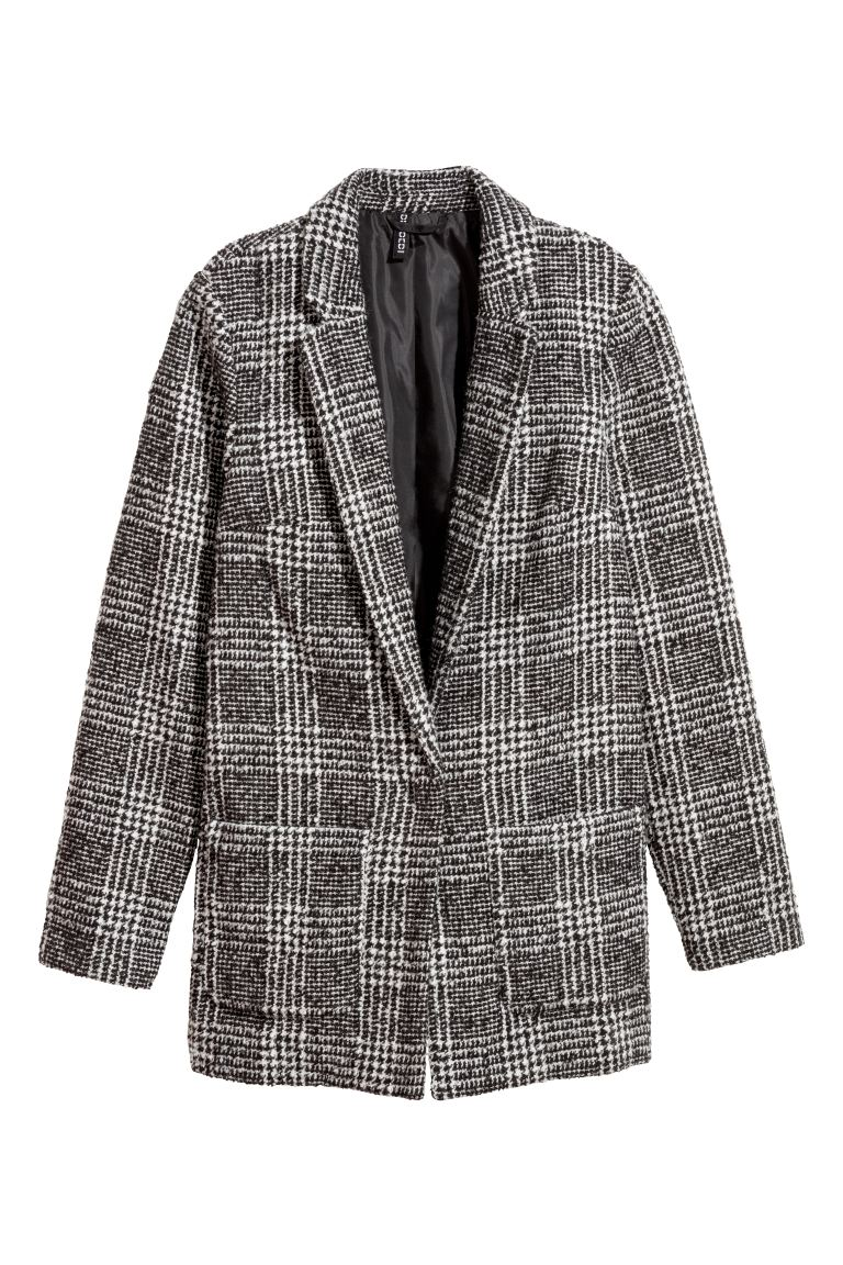 Wool-blend Blazer - Black/patterned - Ladies | H&M CA
