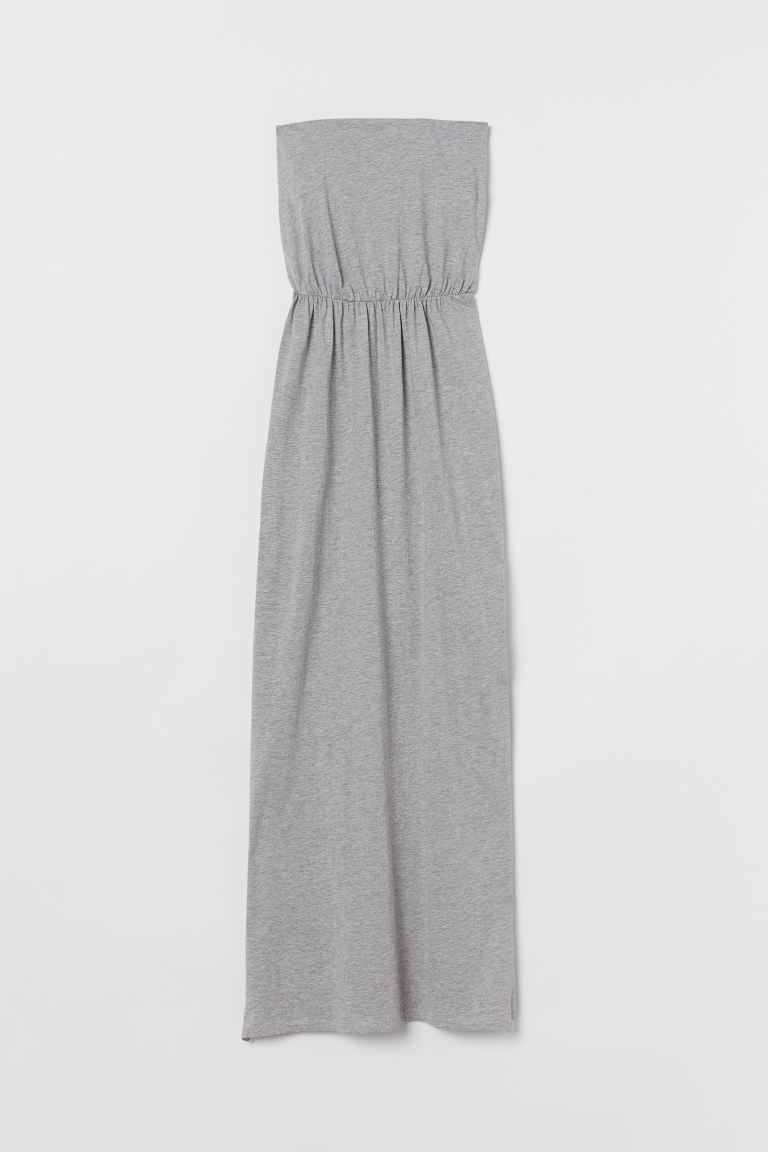 Maxi Dress - Light grey marle - Ladies | H&M AU