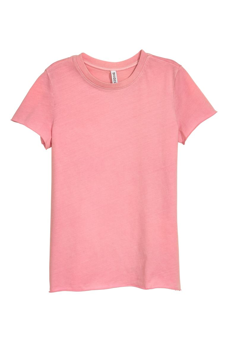 Cotton T-shirt - Vintage pink - Ladies | H&M GB