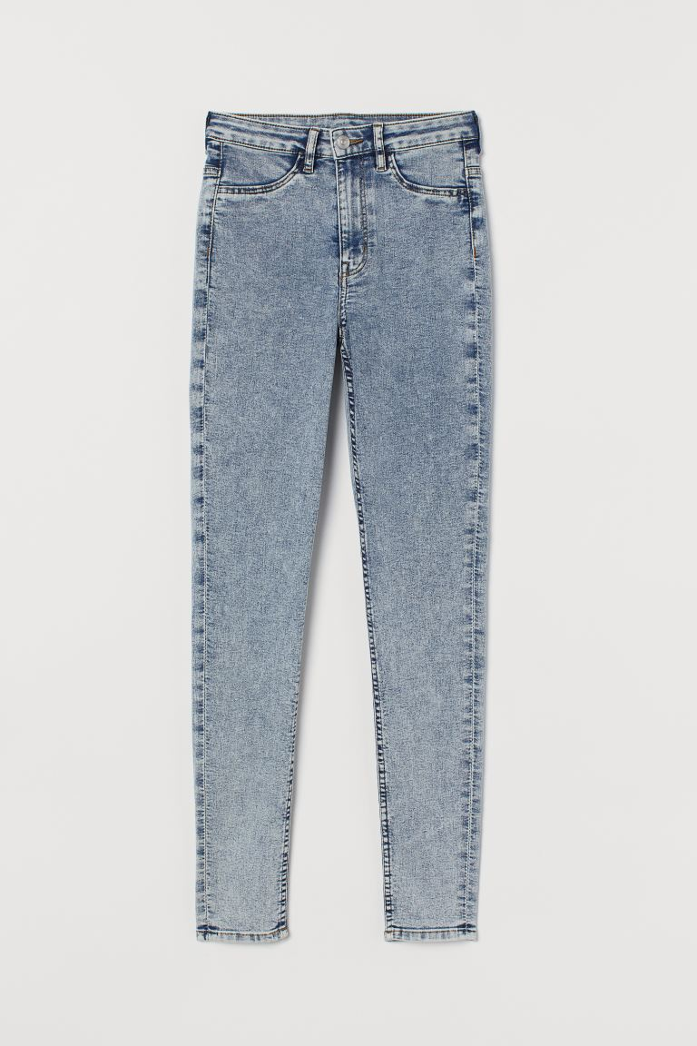 Super Skinny High Jeans - Blu denim sbiadito - DONNA | H&M CH