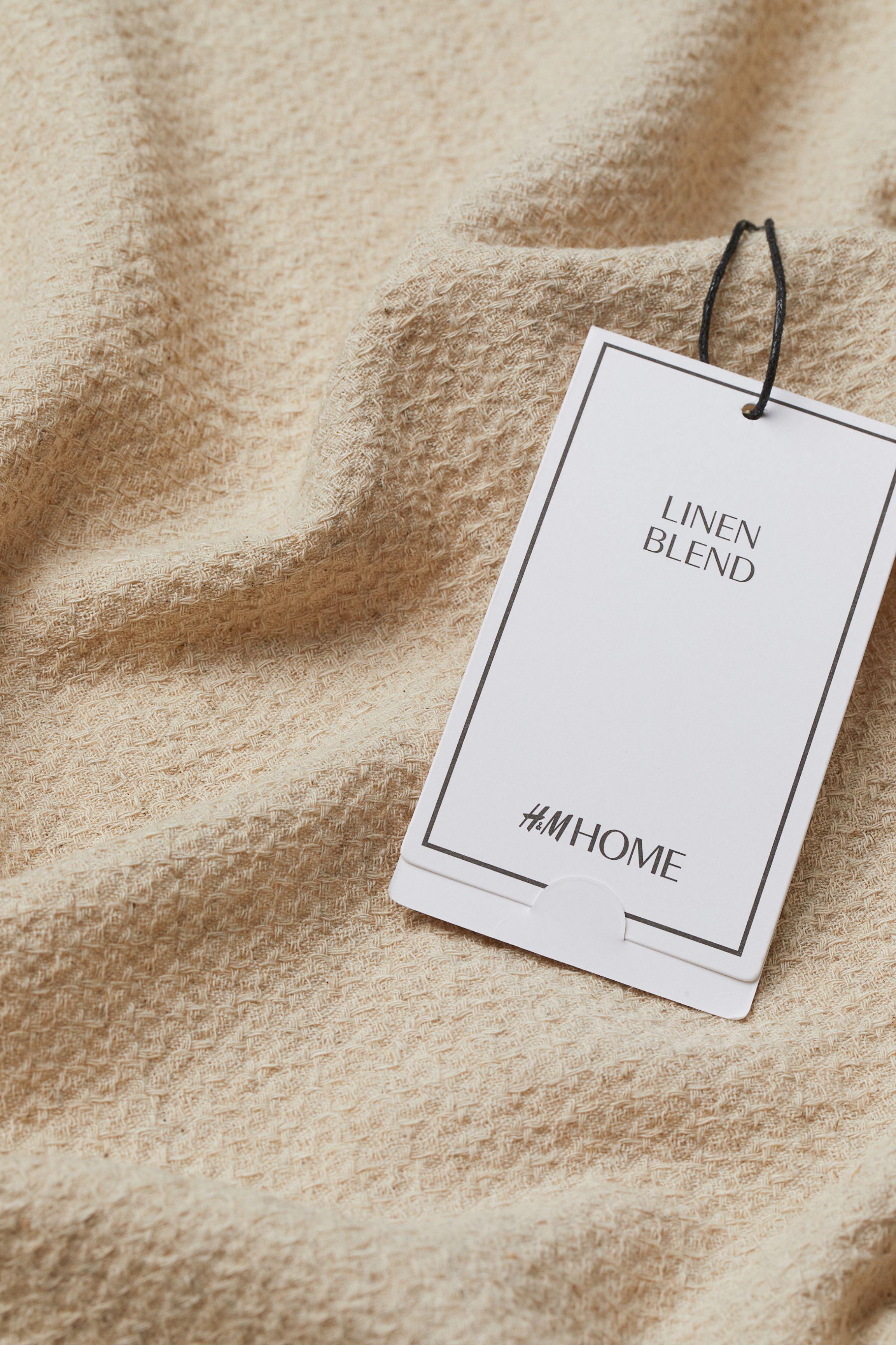 Large Linen-blend Tea Towel