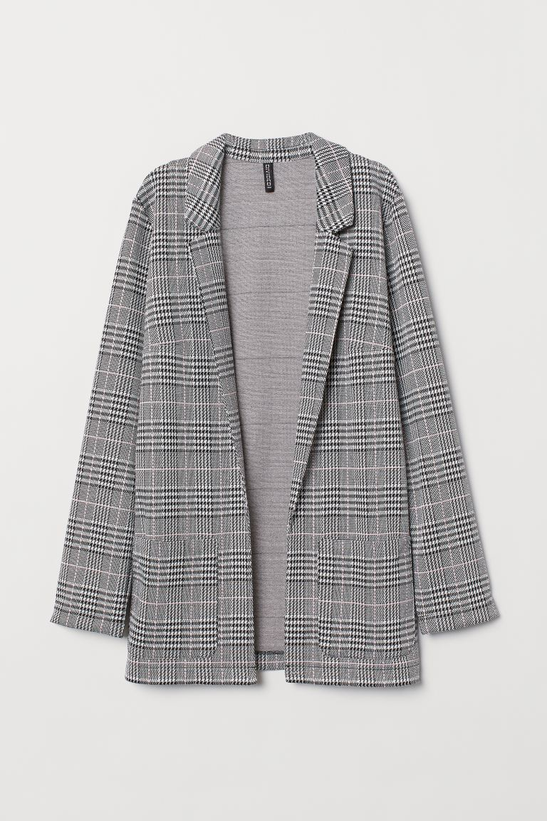 Long Jacket - Gray/checked - Ladies | H&M US