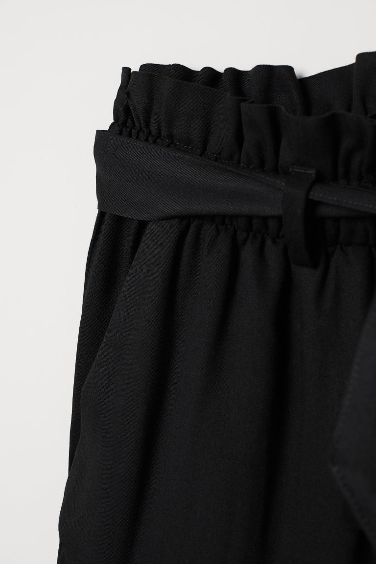 Paper Bag Trousers Black Ladies H M