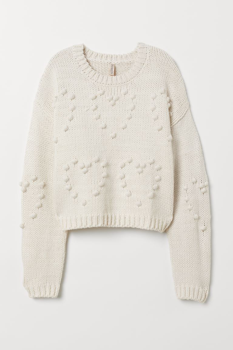 Knit Sweater - Natural white - Ladies | H&M US
