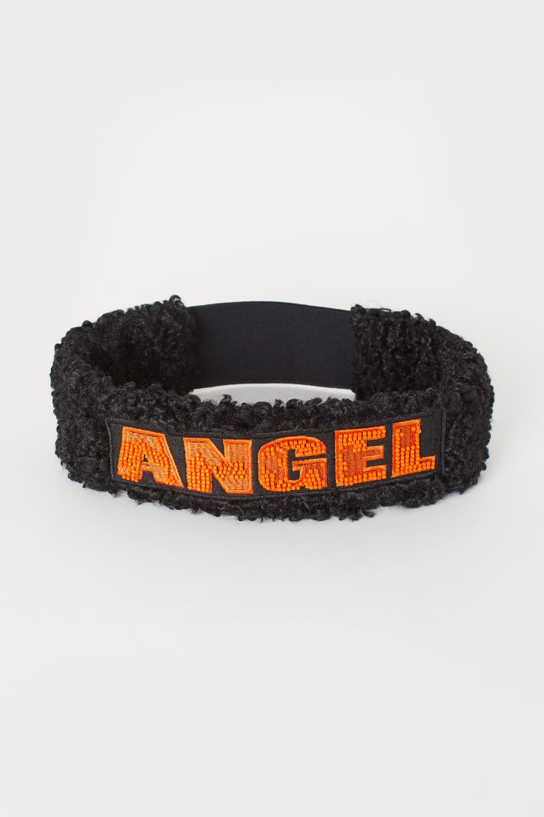 Faux fur headband - Black/Orange - Ladies | H&M IE