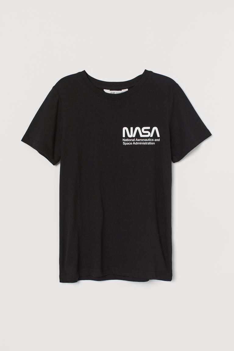 Playera estampada - Negro/NASA - Kids | H&M US