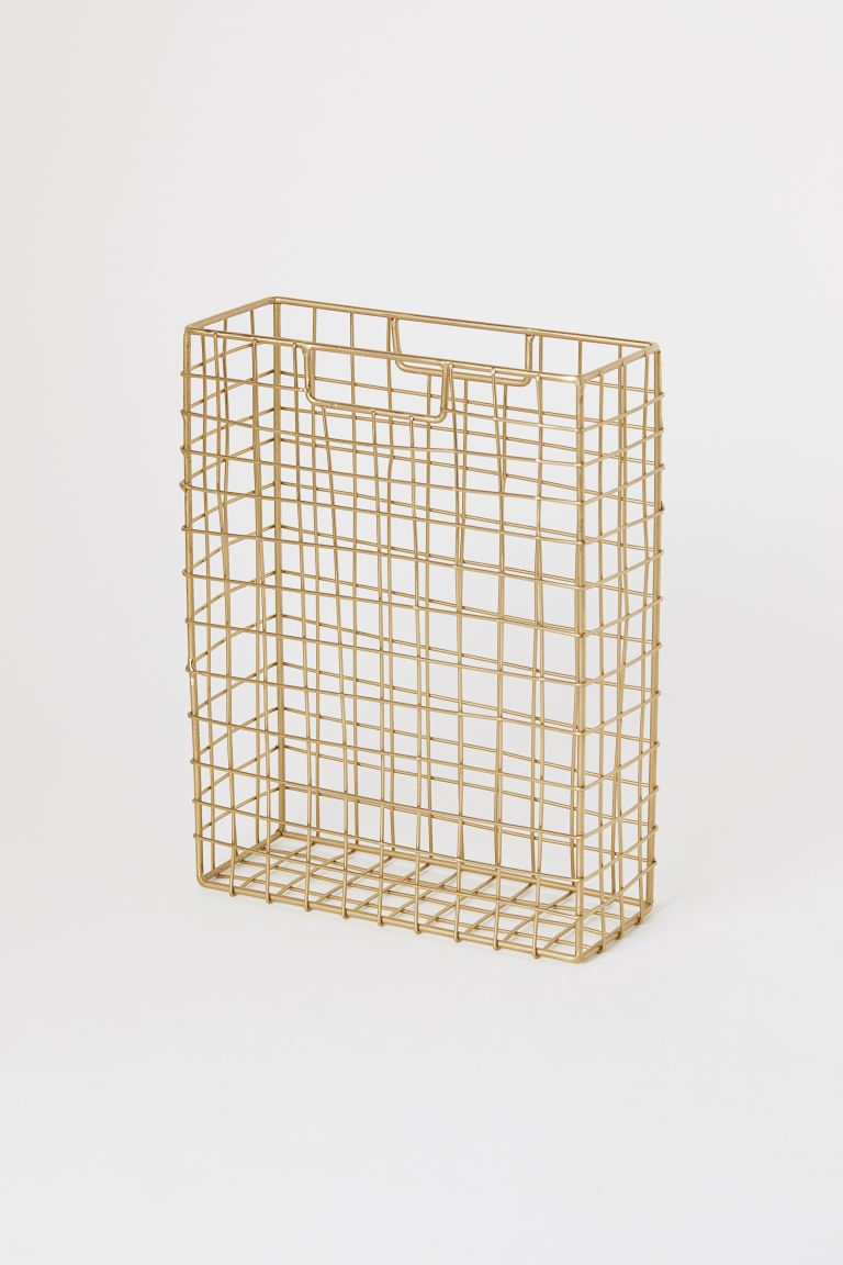 Metal Magazine Rack - Gold-colored - Home All | H&M US