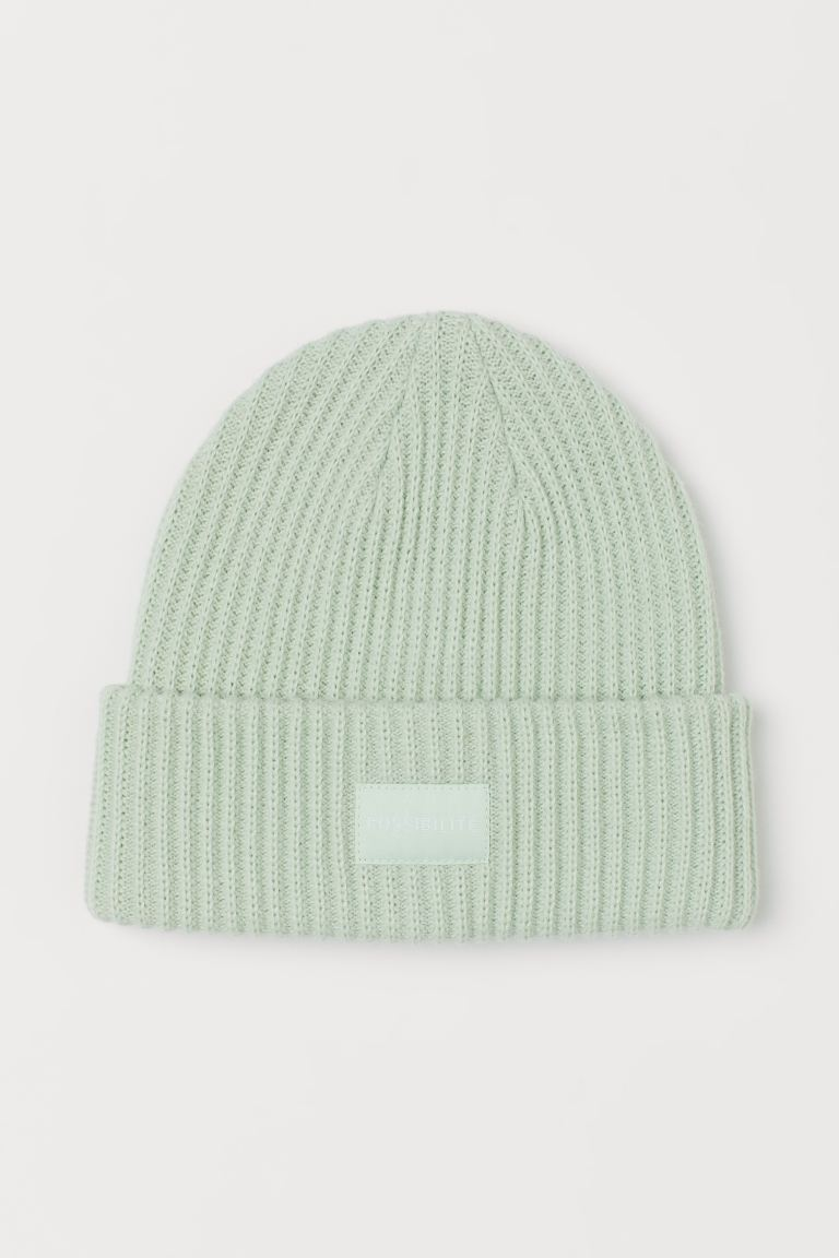Rib-knit Hat - Mint green - Ladies | H&M US