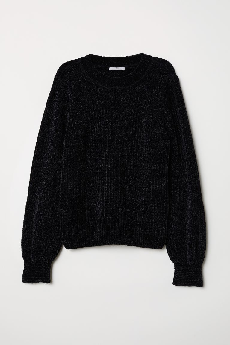 Chenille Sweater - Black - Ladies | H&M US