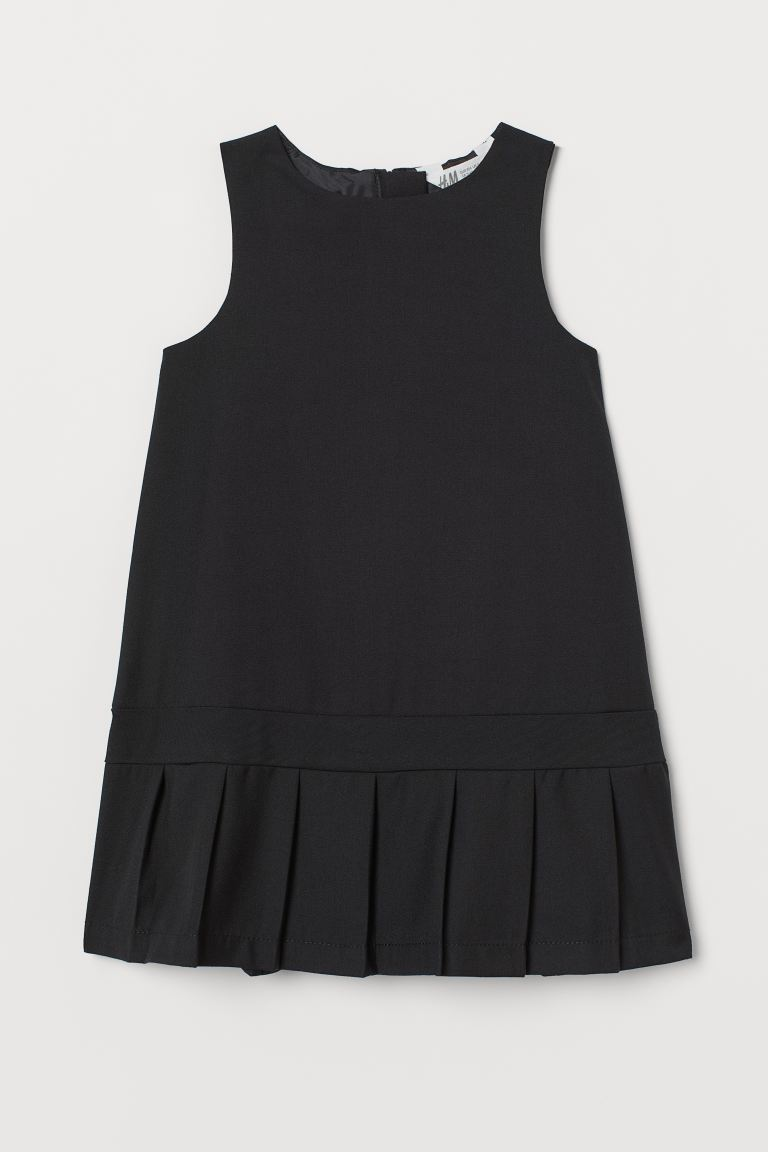 Pleated dress - Black - Kids | H&M GB