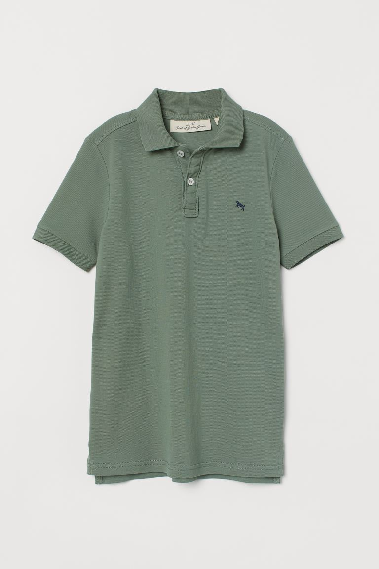 Polo Shirt - Khaki green - Kids | H&M AU