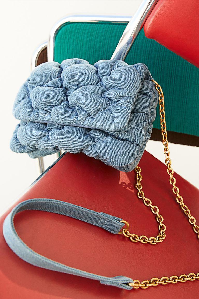 Quilted shoulder bag - Light denim blue - Ladies | H&M GB