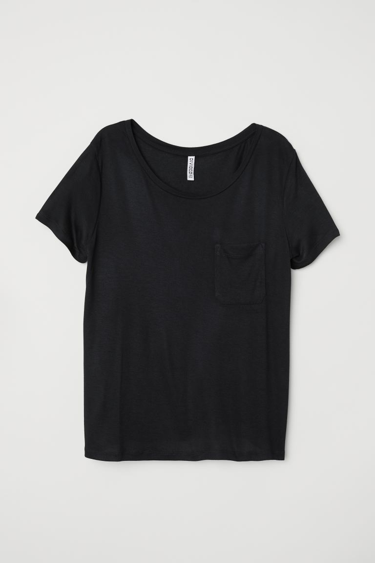 Jersey top - Black - Ladies | H&M GB