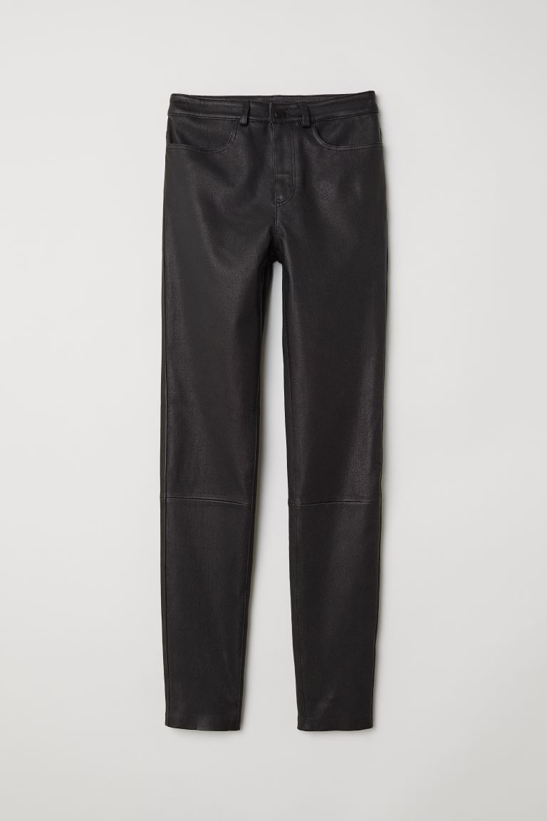 Leather trousers - Black - Ladies | H&M GB