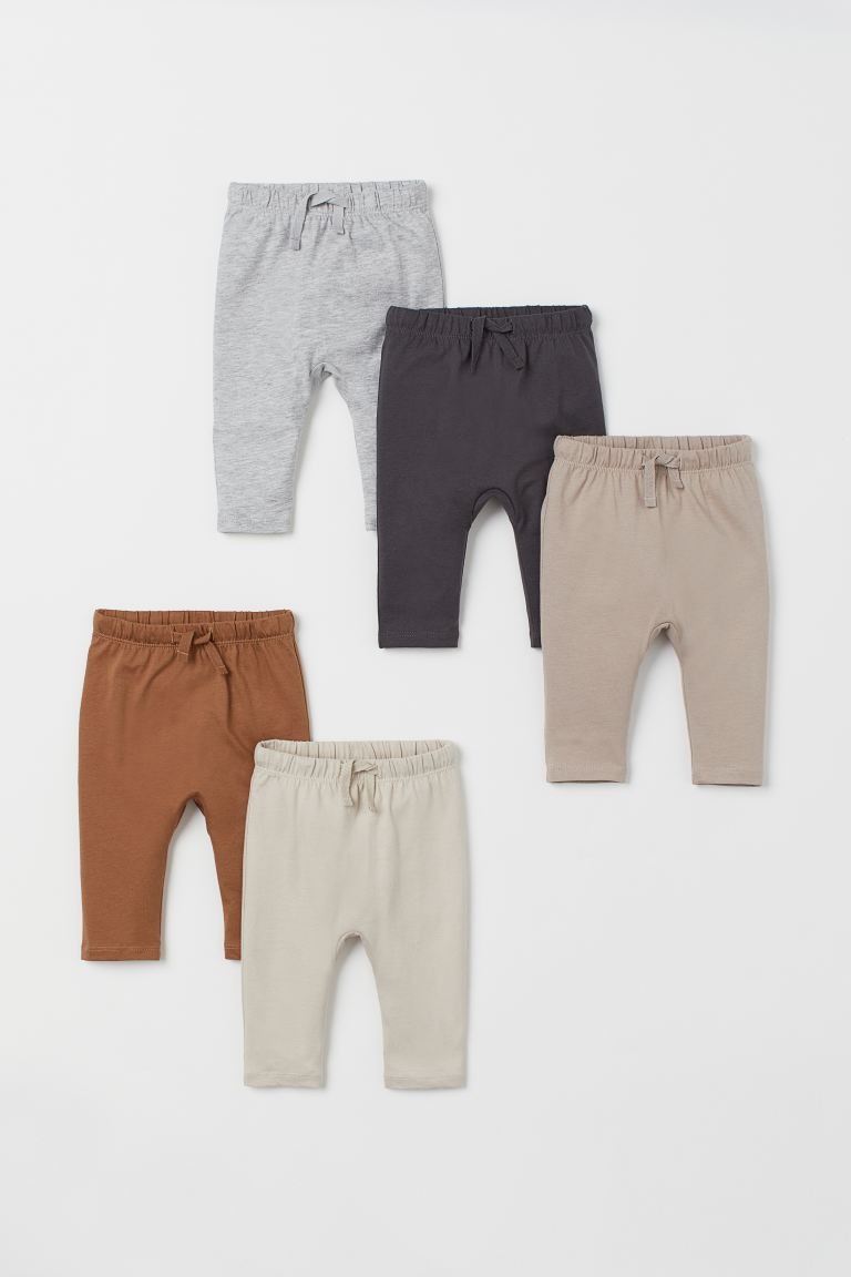 5-pack cotton trousers - Dark grey/Brown - Kids | H&M