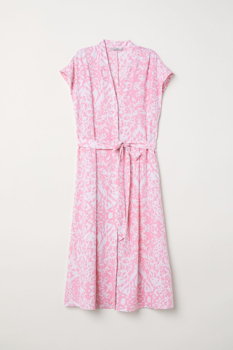 Patterned dress - Pink/Patterned - Ladies | H&M GB