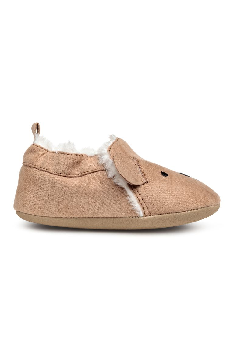 Faux fur-lined slippers - Camel - Kids | H&M GB