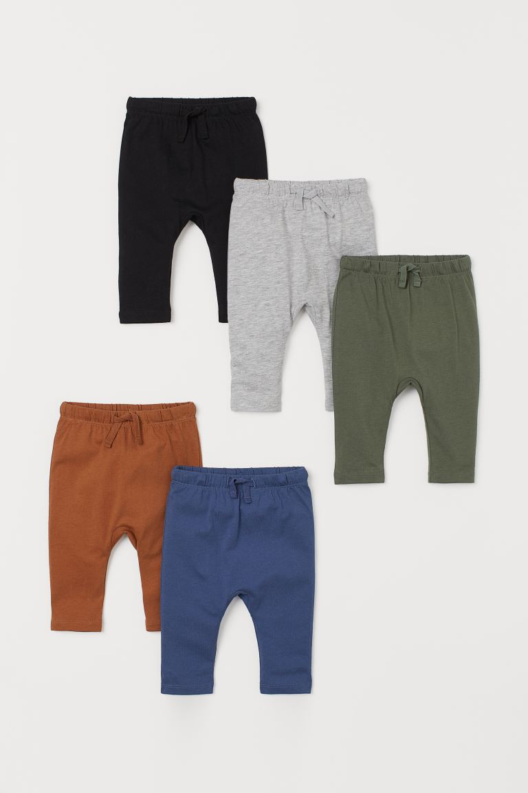 5-pack cotton trousers - Brown - Kids | H&M