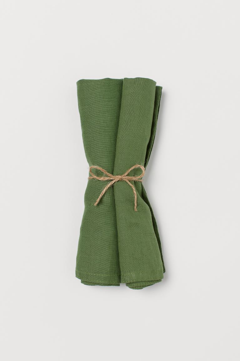 2-pack Linen Napkins - Green - Home All | H&M US