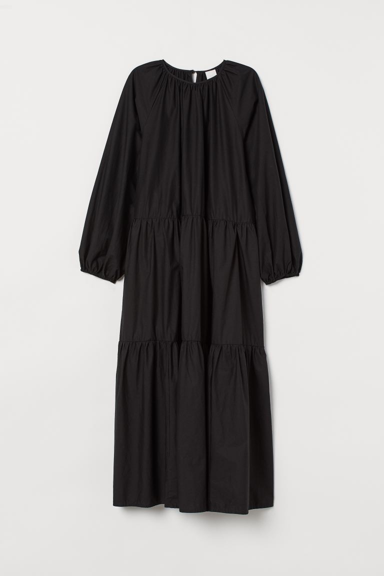 Balloon-sleeved Dress - Black - Ladies | H&M US