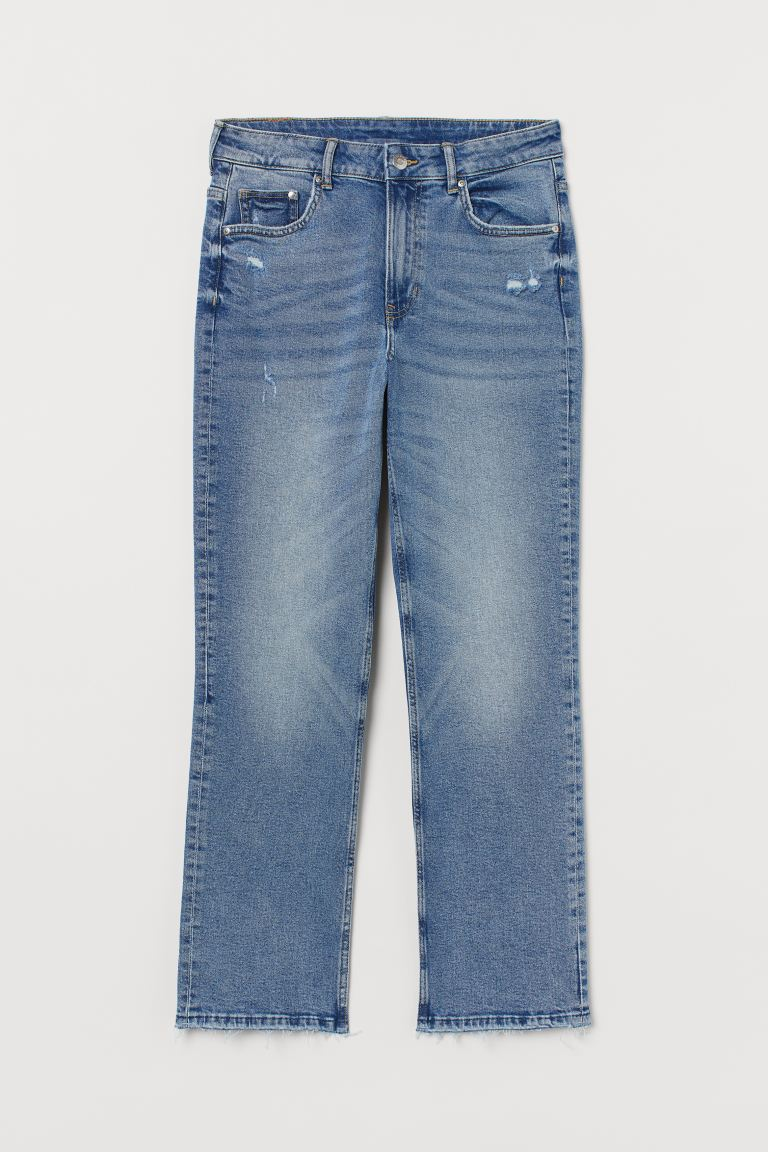 Straight High Ankle Jeans - Denim blue - Ladies | H&M GB