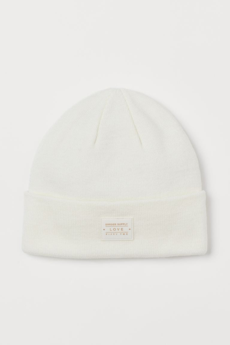 Fine-knit Hat - White - Ladies | H&M US
