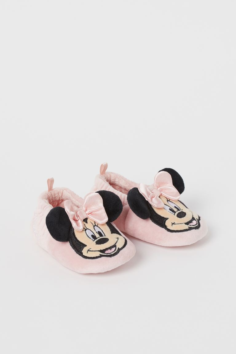 柔軟絲絨家居鞋 - Light pink/Minnie Mouse - Kids | H&M