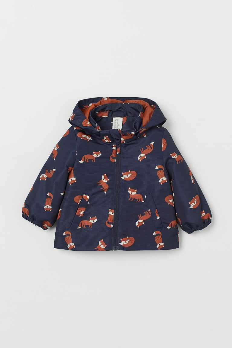 Chamarra impermeable - Azul oscuro/Zorros - Kids | H&M MX