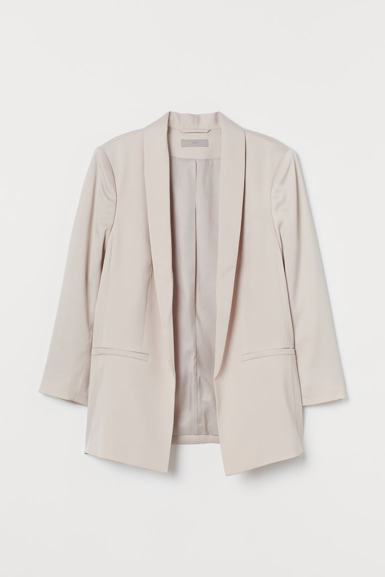 Straight-cut Jacket - Light powder pink - Ladies | H&M US