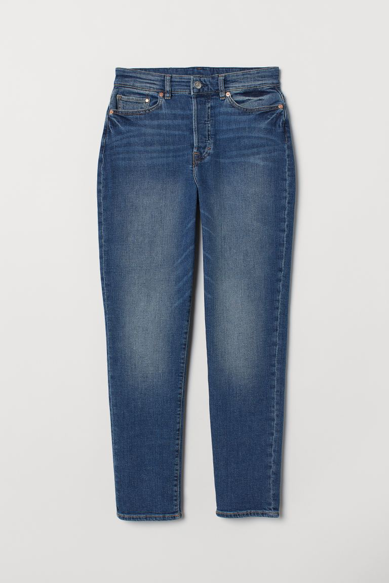 Mom High Ankle Jeans - Blau - Ladies | H&M DE