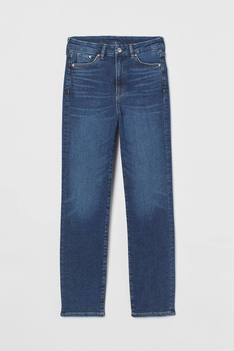 Embrace Slim High Ankle Jeans - Dark denim blue - Ladies | H&M GB