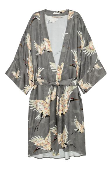 Patterned kimono - Grey - Ladies | H&M GB