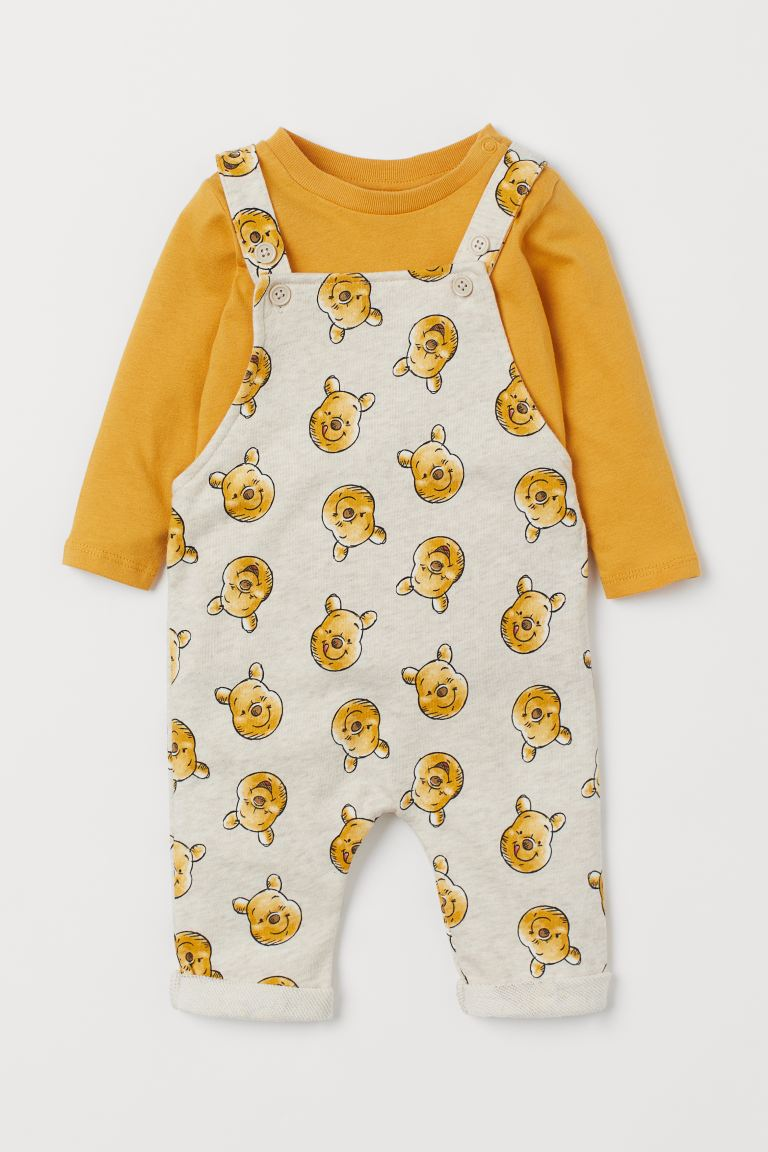 2-piece printed set - Yellow/Winnie the Pooh - Kids | H&M
