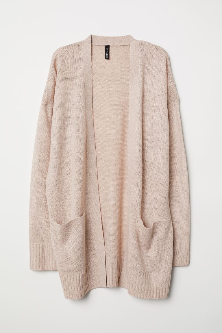 Knit Cardigan - Light pink melange - Ladies | H&M US