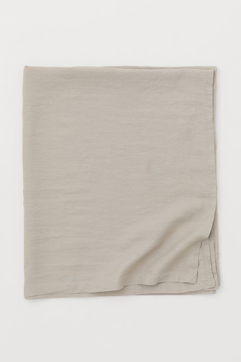 Washed linen tablecloth - Greige - Home All | H&M GB