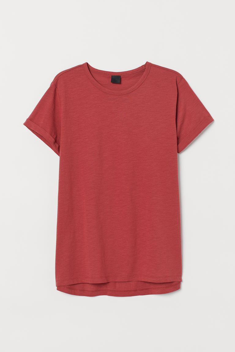Slub Jersey T-shirt - Rust red - Men | H&M CA