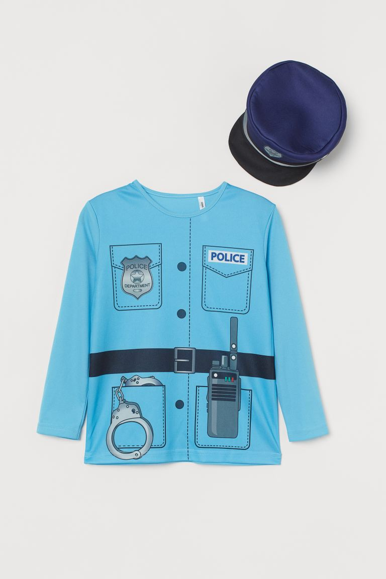 Police Costume - Light blue/Police - Kids | H&M US