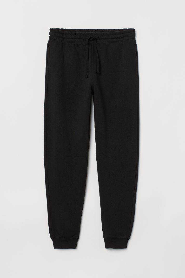 Sweatpants Regular Fit - Black - Men | H&M IN