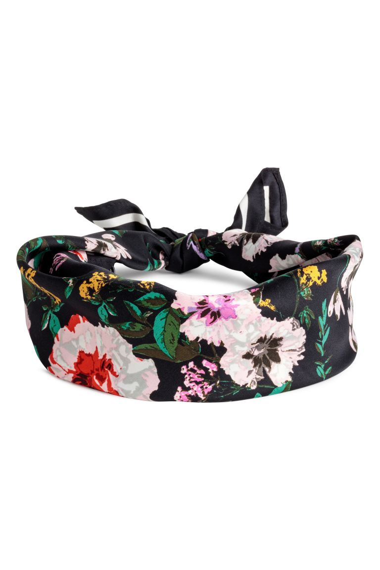 Scarf/Hairband - Black/floral - Ladies | H&M US